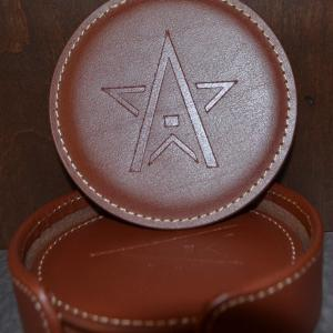 WinStar Leather Coaster Set-ON SALE NOW!