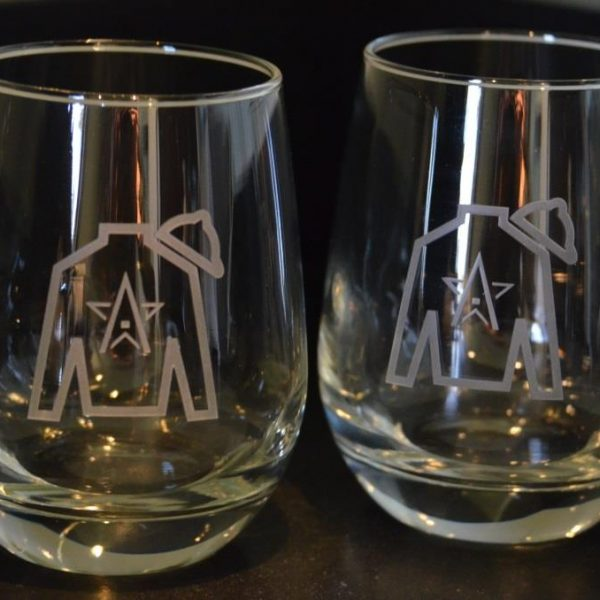 winstar etched wine glassesset of 2 - Etched Wine Glasses